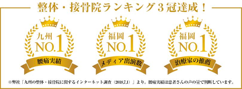 整体・接骨院ランキング3冠達成!