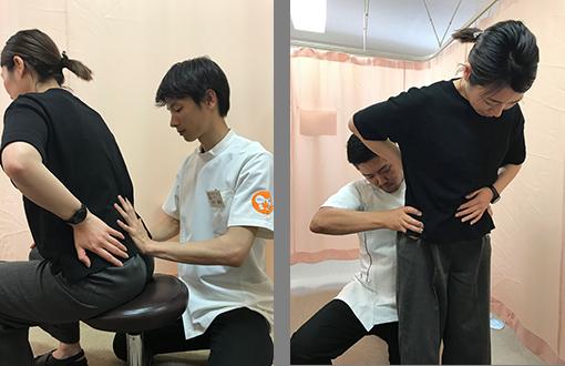 起き上がりや寝返りが辛いギックリ腰でも大丈夫座った状態や立った状態で施術できます!!